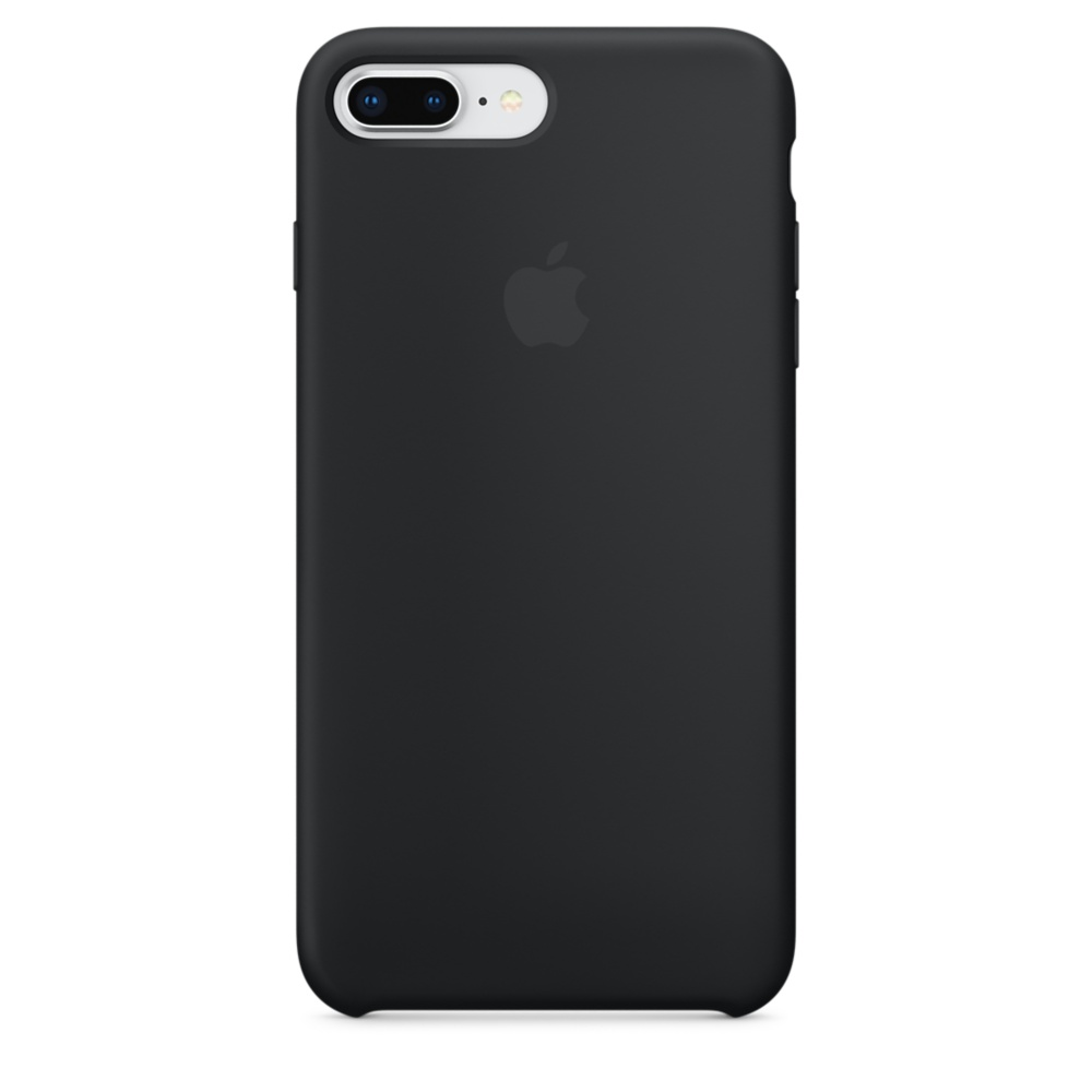 Купить Черный силиконовый чехол Apple Silicone Case Black (MQGW2) для iPhone 8 Plus   7 Plus