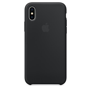 Купить Силиконовый чехол Apple Silicone Case Black (MQT12) для iPhone X/XS