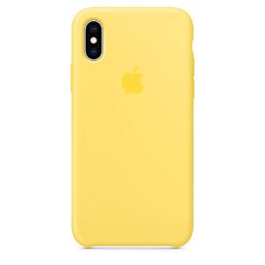 Купить Силиконовый чехол Apple Silicone Case Canary Yellow (MW992) для iPhone XS/X
