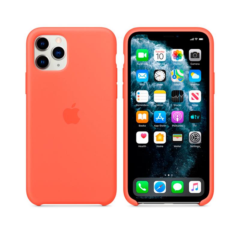 Купить Силиконовый чехол Apple Silicone Case Clementine (Orange) (MX022) для iPhone 11 Pro Max