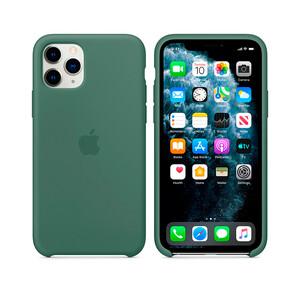 Купить Силиконовый чехол Apple Silicone Case Pine Green (MX012) для iPhone 11 Pro Max