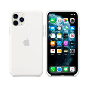 Купить Силиконовый чехол Apple Silicone Case White (MXYX2) для iPhone 11 Pro Max