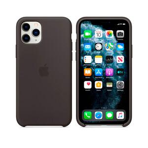 Купить Силиконовый чехол Apple Silicone Case Black (MX002) для iPhone 11 Pro Max