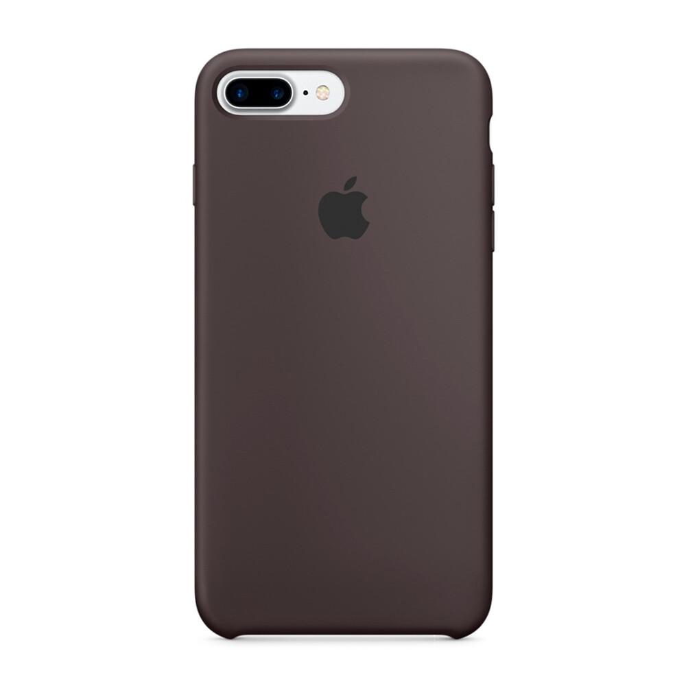 Силиконовый чехол Apple Silicone Case Cocoa (MMT12) для iPhone 7 Plus/8 Plus