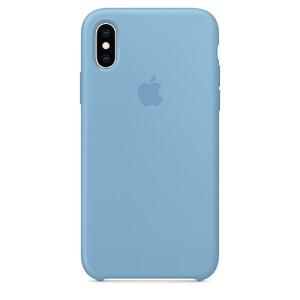 Купить Силиконовый чехол Apple Silicone Case Cornflower (MW982) для iPhone XS/X
