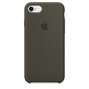Купить Силиконовый чехол Apple Silicone Case Dark Olive (MR3N2) для iPhone 8/7