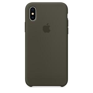 Купить Силиконовый чехол Apple Silicone Case Dark Olive (MR522) для iPhone X