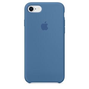 Купить Силиконовый чехол Apple Silicone Case Denim Blue (MRFR2) для iPhone 8/7