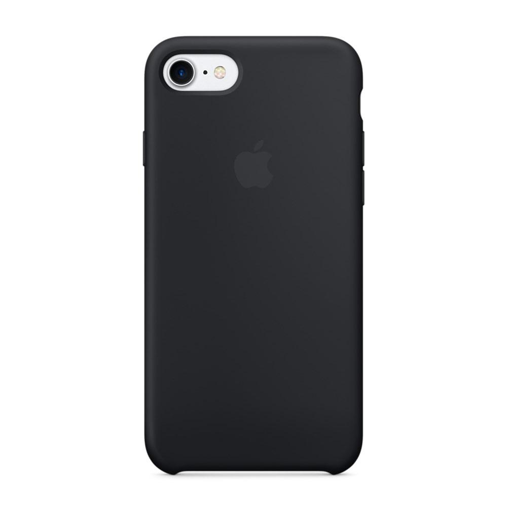 Купить Силиконовый чехол Apple Silicone Case Black (MMW82) для iPhone 7 | 8 | SE 2020 (Витринный образец)