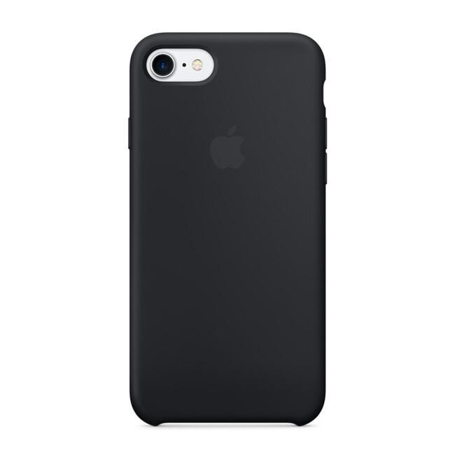 Силиконовый чехол Apple Silicone Case Black (MMW82) для iPhone 7