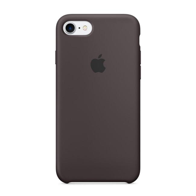 Силиконовый чехол Apple Silicone Case Cocoa (MMX22) для iPhone 7
