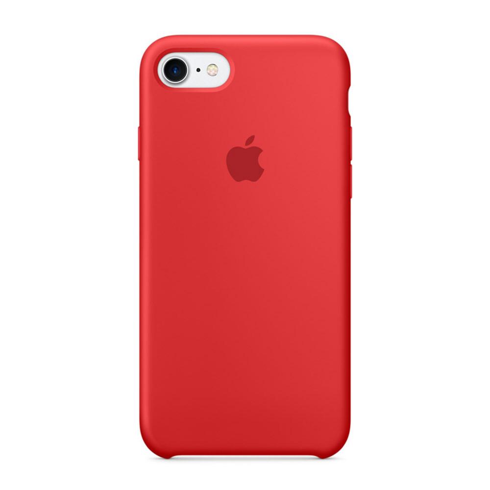 Силиконовый чехол Apple Silicone Case RED (MMWN2) для iPhone 7/8