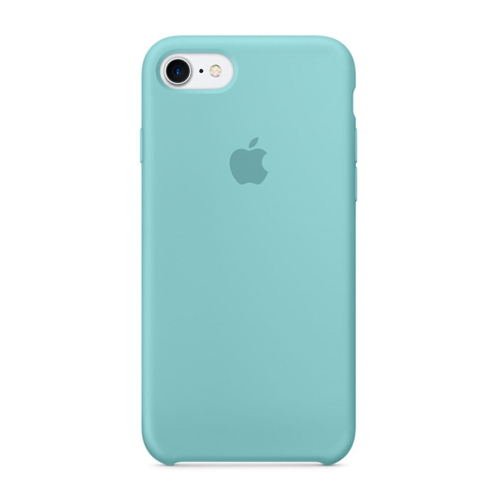 Силиконовый чехол Apple Silicone Case Sea Blue (MMX02) для iPhone 7/8