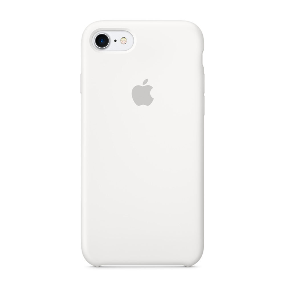 Силиконовый чехол Apple Silicone Case White (MMWF2) для iPhone 7/8