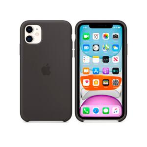Купить Силиконовый чехол Apple Silicone Case Black (MWVU2) для iPhone 11