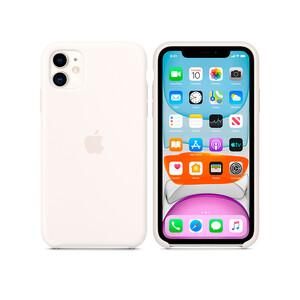 Купить Силиконовый чехол Apple Silicone Case White (MWVX2) для iPhone 11