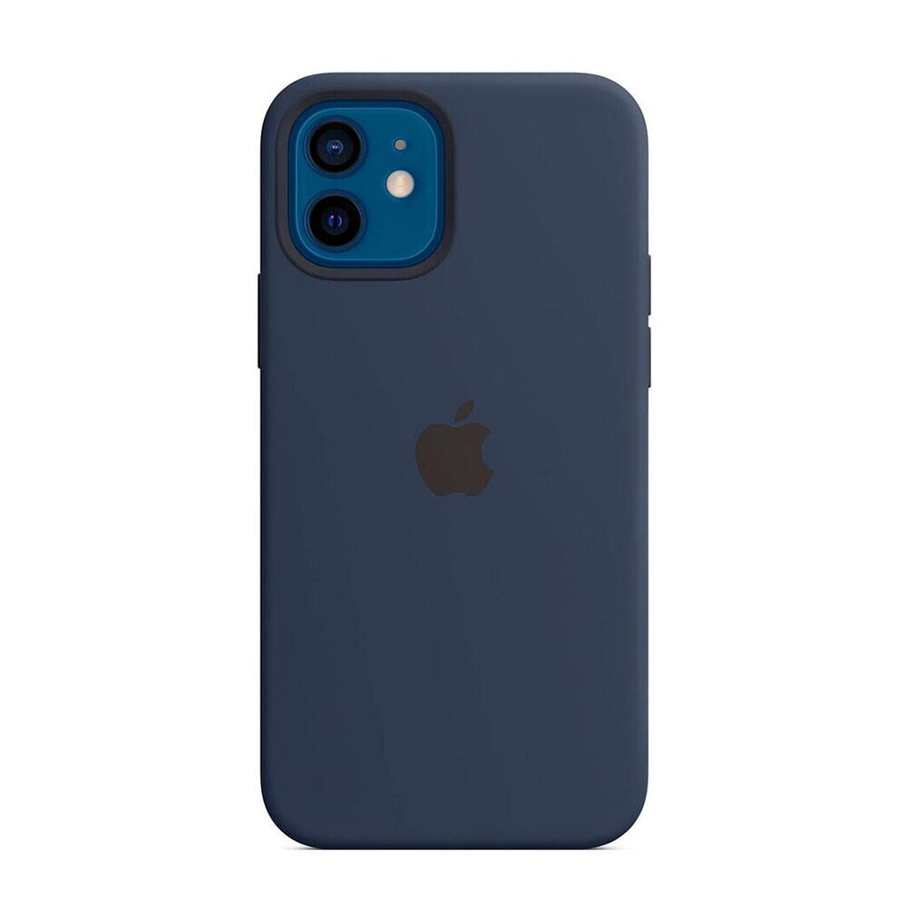 Силиконовый чехол Apple Silicone Case MagSafe Deep Navy (MHL43) для iPhone 12 | 12 Pro