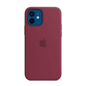 Купить Силиконовый чехол Apple Silicone Case MagSafe Plum (MHL23) для iPhone 12 | 12 Pro