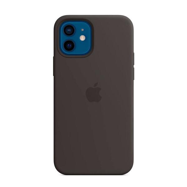 Силиконовый чехол Apple Silicone Case MagSafe Black (MHL73) для iPhone 12 | 12 Pro