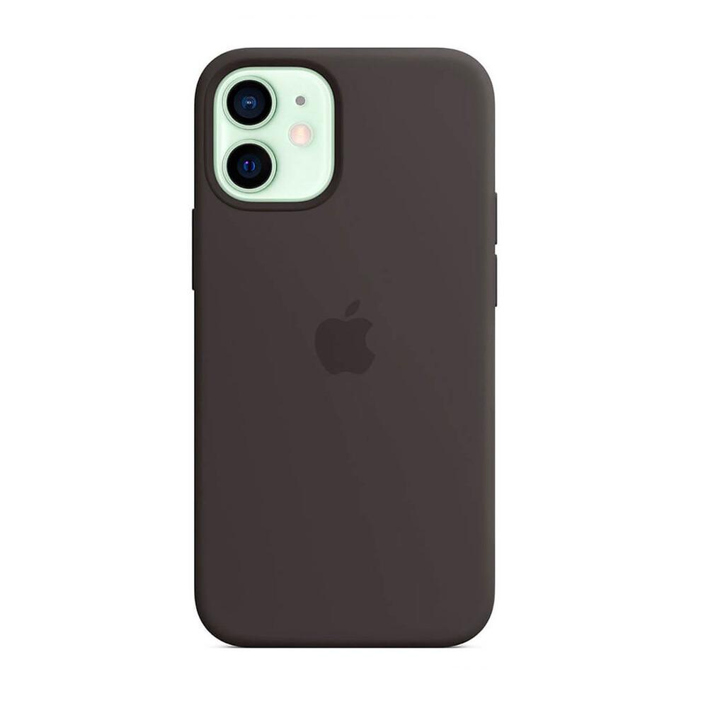 Купить Силиконовый чехол Apple Silicone Case MagSafe Black (MHKX3) для iPhone 12 mini