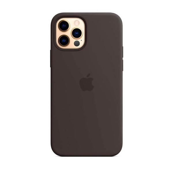 Силиконовый чехол Apple Silicone Case MagSafe Black (MHLG3) для iPhone 12 Pro Max