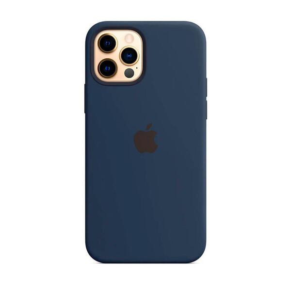 Силиконовый чехол Apple Silicone Case MagSafe Deep Navy (MHLD3) для iPhone 12 Pro Max