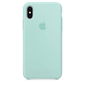 Купить Силиконовый чехол Apple Silicone Case Marine Green (MRRE2) для iPhone X/XS