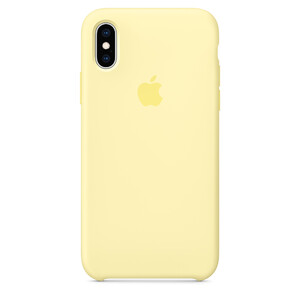Купить Силиконовый чехол Apple Silicone Case Mellow Yellow (MUJV2) для iPhone XS/X