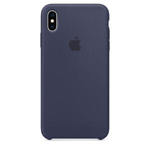 Купить Силиконовый чехол Apple Silicone Case Midnight Blue (MRWG2) для iPhone XS Max