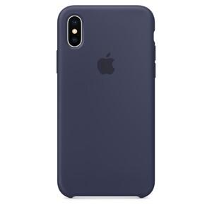 Купить Силиконовый чехол Apple Silicone Case Midnight Blue (MQT32) для iPhone X