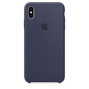 Купить Силиконовый чехол Apple Silicone Case Midnight Blue (MRW92) для iPhone XS/X