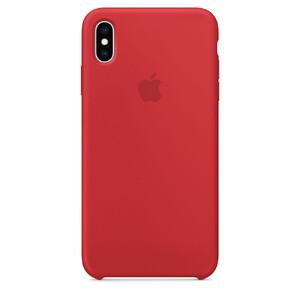 Купить Силиконовый чехол Apple Silicone Case (PRODUCT) RED (MRWH2) для iPhone XS Max