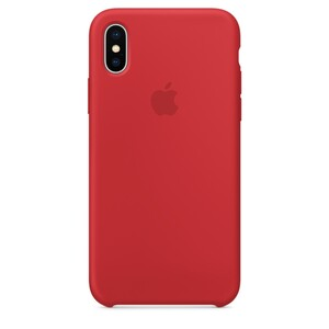 Купить Силиконовый чехол Apple Silicone Case (PRODUCT) RED (MQT52) для iPhone X
