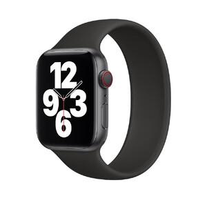 Купить Силиконовый монобраслет Apple Solo Loop Black для Apple Watch 44mm | 42mm (MYT52) Размер 9