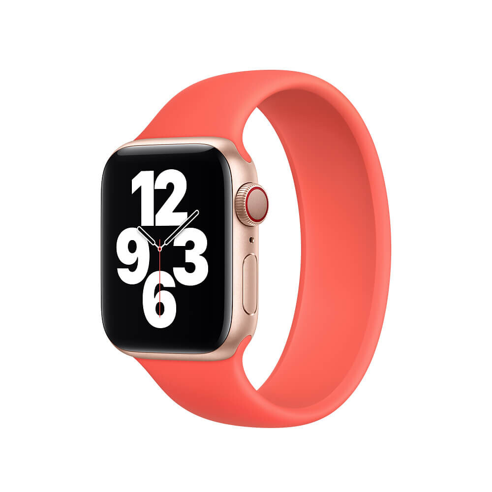 Купить Силиконовый монобраслет Apple Solo Loop Pink Citrus для Apple Watch 40mm | 38mm (MYPC2) Размер 4