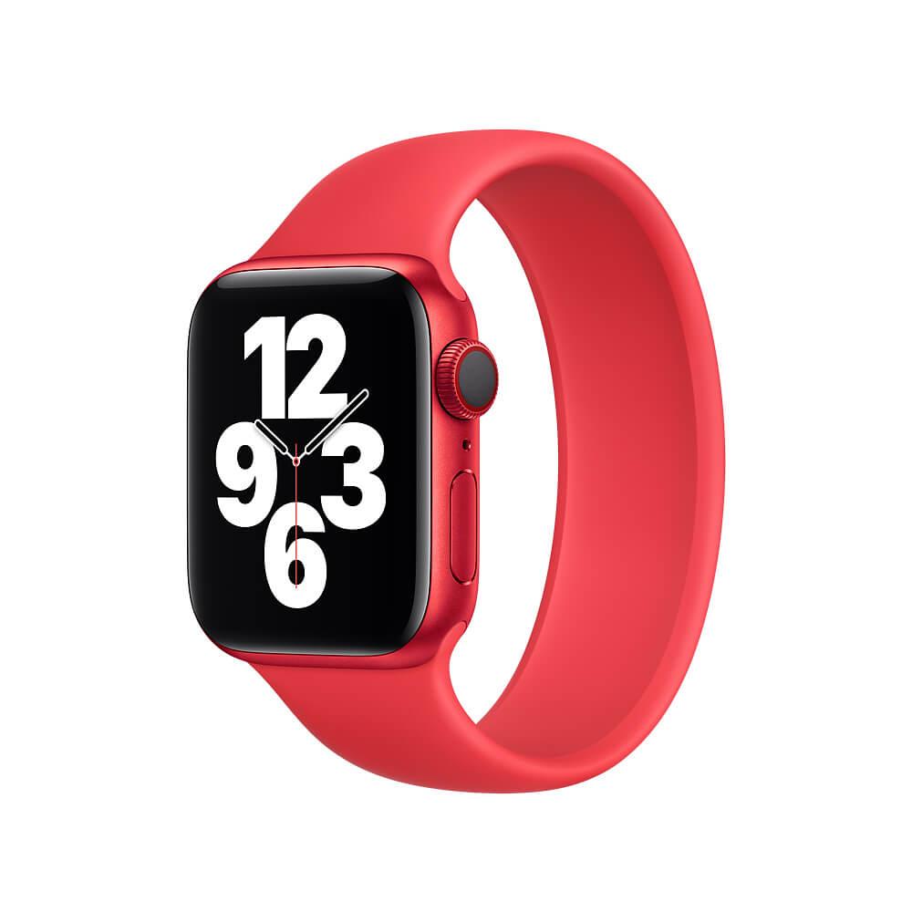 Купить Силиконовый монобраслет Apple Solo Loop (PRODUCT) Red для для Apple Watch 40mm | 38mm (MYP32) Размер 5