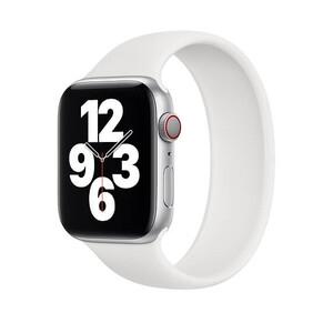Купить Силиконовый монобраслет Apple Solo Loop White для для Apple Watch 44mm | 42mm (MYTE2) Размер 8