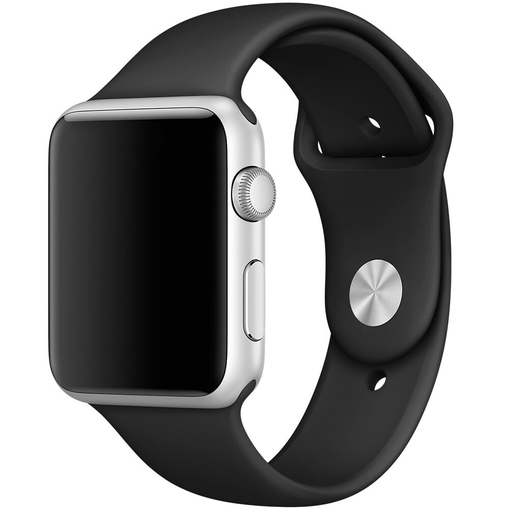 Ремешок Apple 42mm Black Sport Band (MJ4Q2/ML9J2/MRQX2) M/L&L/XL для Apple Watch Series 1/2/3