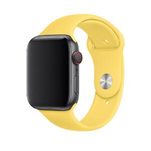 Купить Ремешок Apple Sport Band S/M & M/L Canary Yellow (MV6E2) для Apple Watch 44mm/42mm Series 1/2/3/4