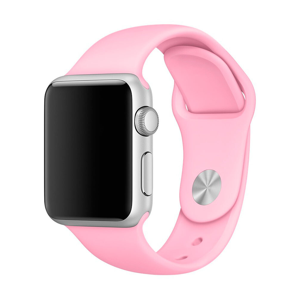 Ремешок Apple 38mm Light Pink Sport Band (MM902) S/M&M/L для Apple Watch Series 1/2/3
