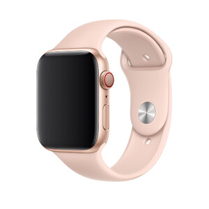 Купить Ремешок Apple Sport Band S/M & M/L Pink Sand (MTPM2) для Apple Watch 44mm/42mm Series 1/2/3/4