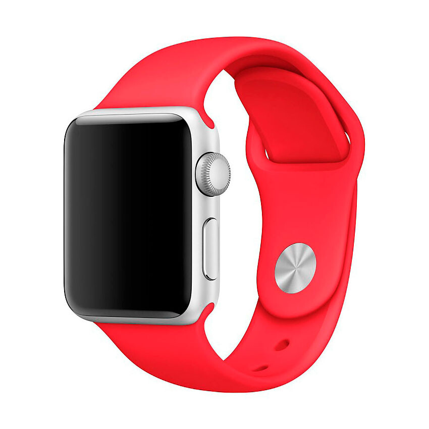 Ремешок Apple 38mm (PRODUCT) Red Sport Band (MLD82) S/M&M/L для Apple Watch Series 1/2