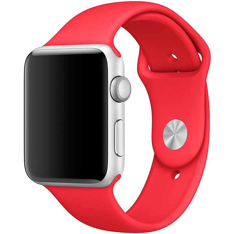 Ремешок Apple 42mm (PRODUCT) RED Sport Band (MLDJ2/MQXE2) S/M&M/L для Apple Watch Series 1/2/3