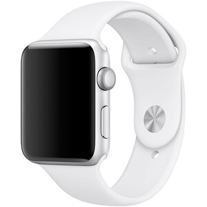 Купить Ремешок Apple 42mm White Sport Band (MJ4M2) S/M&M/L для Apple Watch Series 1/2