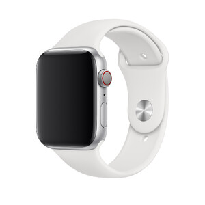Купить Ремешок Apple Sport Band S/M & M/L White (MTPK2) для Apple Watch 44mm/42mm Series 1/2/3/4
