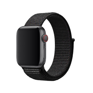 Купить Ремешок Apple Sport Loop Black (MQVX2/MTLT2) для Apple Watch 38mm/40mm Series 5/4/3/2/1