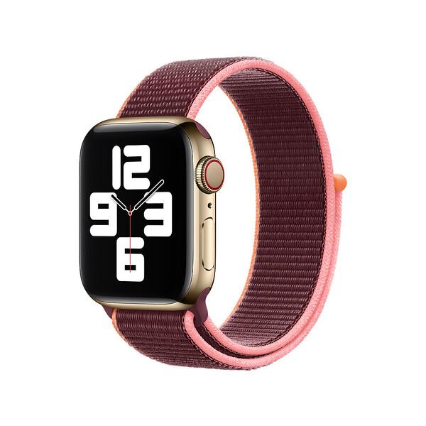 Ремешок Apple Sport Loop Plum для Apple Watch 38mm | 40mm Series SE | 6 | 5 | 4 | 3 | 2 | 1 (MYA32)