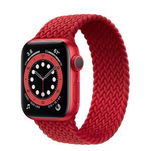 Купить Смарт-часы Apple Watch Series 6 GPS, 40mm Red Aluminum Case with Red Braided Solo Loop (M02C3)
