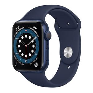 Купить Смарт-часы Apple Watch Series 6 GPS, 44mm Blue Aluminum Case with Deep Navy Sport Band (M00J3)