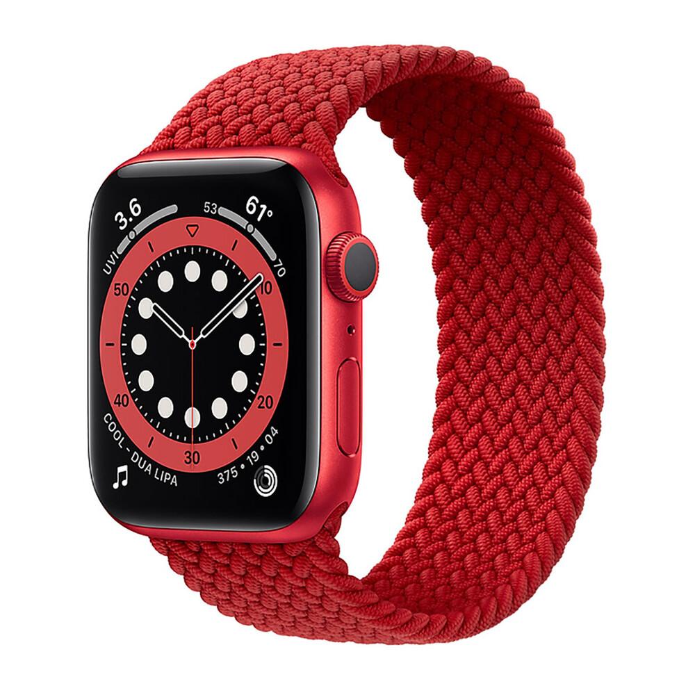 Купить Смарт-часы Apple Watch Series 6 GPS, 44mm Red Aluminum Case with Red Braided Solo Loop (M02H3)
